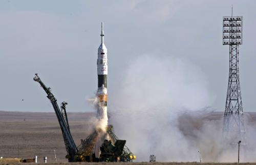 Start rakety Sojuz-FG z Bajkonuru
