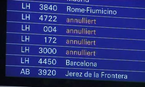 Zrušené lety Lufthansy
