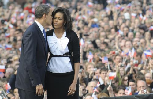 Obamovi v Praze