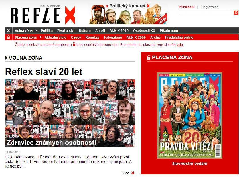 Internetová verze Reflexu