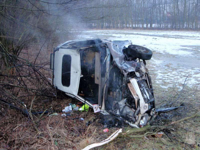 Vrak vozu po nehodě