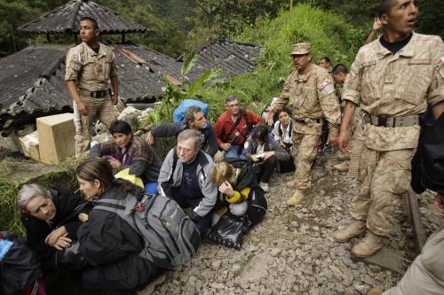Turisté evakuovaní od Machu Picchu