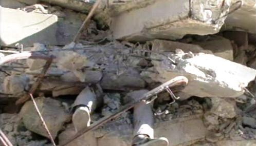 Oběť zemětřesení na Haiti