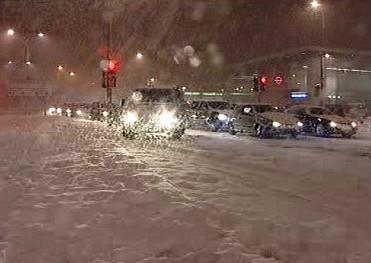 Sněhová nadílka v Británii