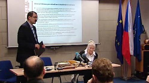 Pavel Žáček na tiskové konferenci