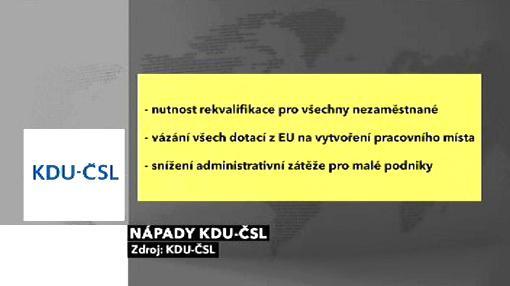 Nápady KDU-ČSL