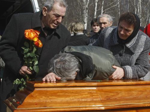 Pohřeb Maxima Marejeva