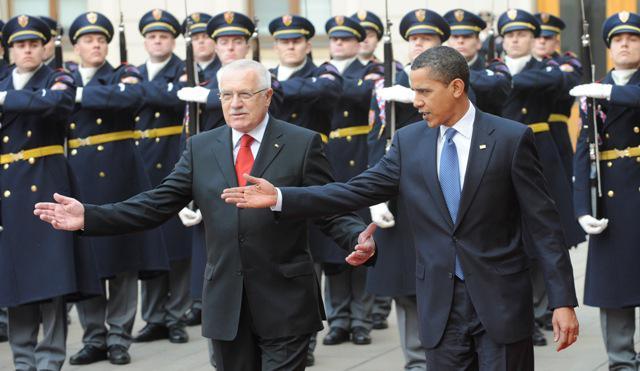 Václav Klaus a Barack Obama