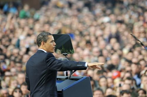 Barack Obama při projevu