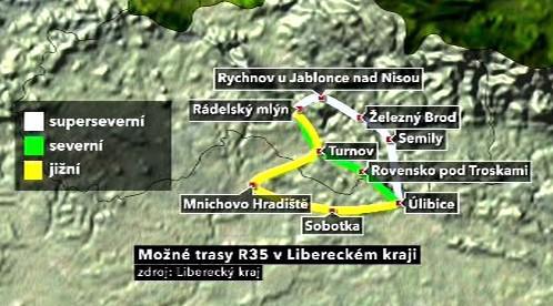 Možné trasy R35