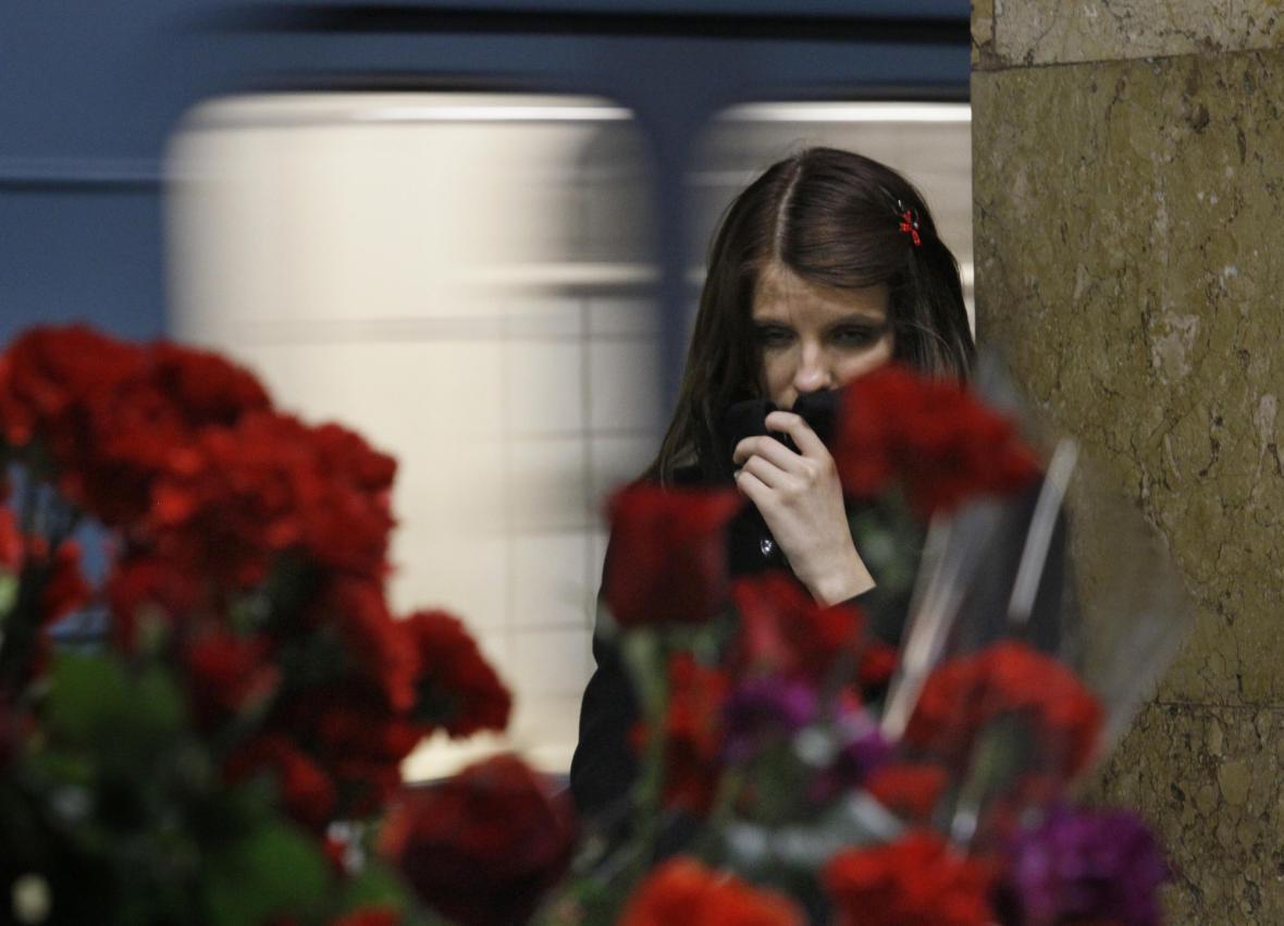 Truchlící ruská dívka
