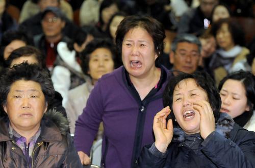 Příbuzní pohřešovaných jihokorejských vojáků