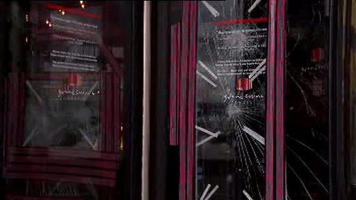 Vchod do vyloupeného kasina v Basileji