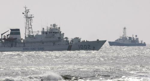 Záchranné akce u potopené jihokorejské lodi