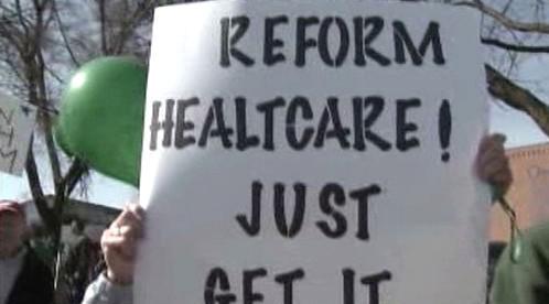 Demonstrace za zdravotnickou reformu