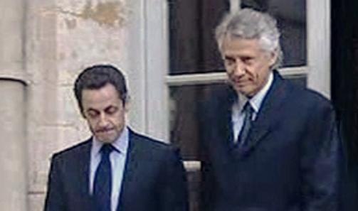 Nicolas Sarkozy a Dominique de Villepin