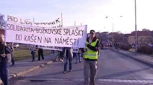 Protest v Božkově