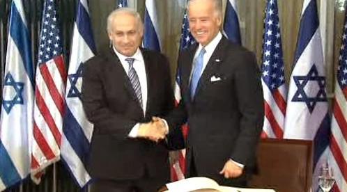 Benjamin Netanjahu a Joe Biden