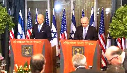 Joe Biden a Benjamin Netanjahu