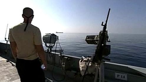 Vojenská hlídka v Adenském zálivu