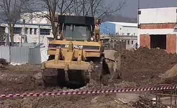Stavba městského koupaliště v Jičíně