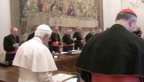 Benedikt XVI. s irskými biskupy