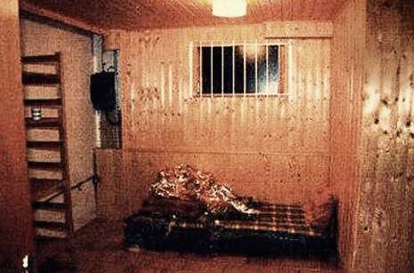 Místnost, kde důchodci zadržovali uneseného finančníka