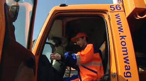 Řidič Jan Pulo v autě