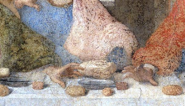 Detail da Vinciho Poslední večeře Ježíše krista