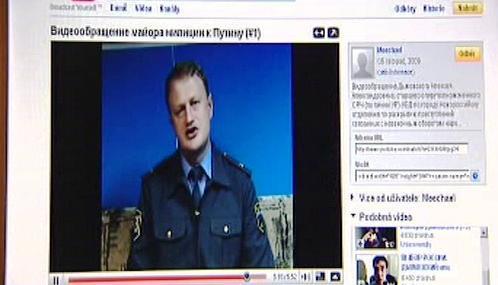 Prohlášení Alexeje Dymovského na webu