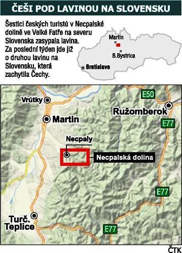 Češi pod lavinou na Slovensku