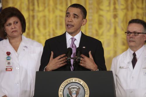 Obama s lékaři v Bílém domě
