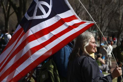 Demonstrace proti válce v Iráku ve Washingtonu