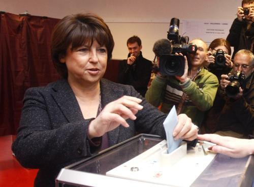 Martine Aubryová u voleb