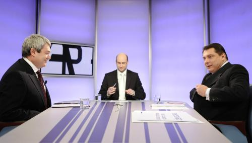 Předseda KSČM Vojtěch Filip a předseda ČSSD Jiří Paroubek