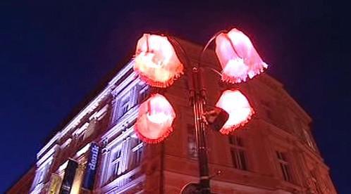 Osvětlený dům