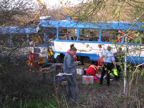 Tramvaje po nehodě