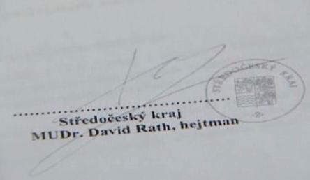 Podpis hejtmana Ratha