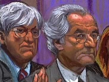 Soudní kresba Bernarda Madoffa