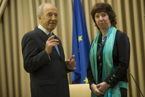 Šimon Peres a Catherine Ashtonová