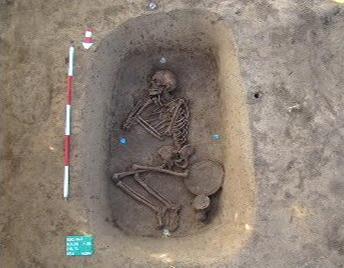 Nález hrobu u Kolína