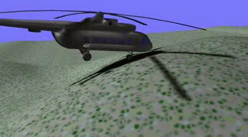 Simulace nárazu vrtulníku