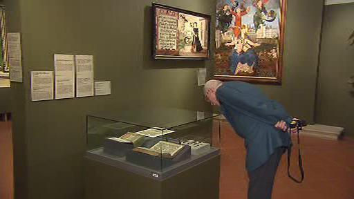 Originál Jenského kodexu v Císařské konírně Pražského hradu