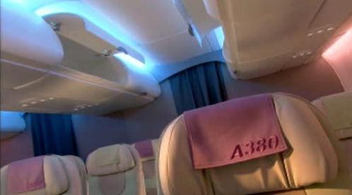 Interiér Airbusu A380