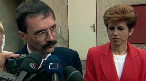 Josef Lux s manželkou Věrou