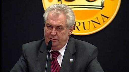 Miloš Zeman jako účinkující na fóru Zlaté koruny