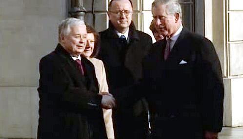 Lech Kaczyński a princ Charles