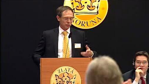 Ekonom Jan Švejnar na Fóru Zlaté koruny