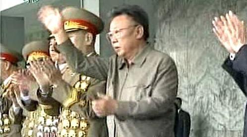 Kim Čong-il na přehlídce