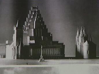 Návrh J. Gočára na dostavbu Staroměstské radnice